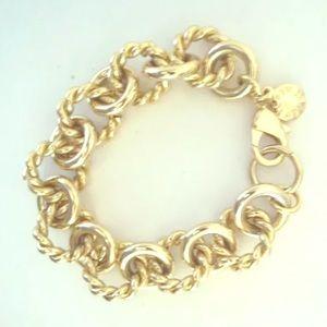 J.Crew gold ornate bracelet designer link